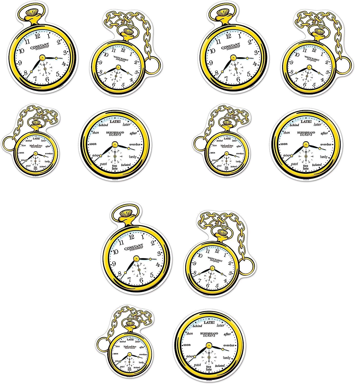 "Beistle , 12 Piece Clock Cutouts, 10""-12.75"", Black/White/Yellow"