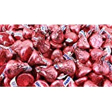 Hershey's Kisses, Milk Chocolate in Pink Foil (Pack of 2 Pound)