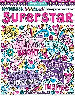 Notebook Doodles Superstar Coloring Activity Book Design Originals 32 Inspiring Designs