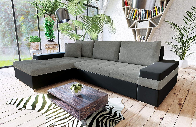 Honey pot furniture bangkok corner storage sofabed left hand black grey amazon co uk kitchen home