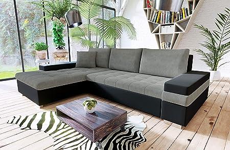 Honey Pot Furniture Bangkok Corner Storage Sofabed Left Hand Black Grey