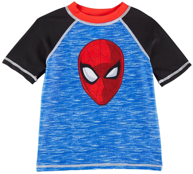 Bealls Marvel Spider Man Toddler Boys Raglan Rashguard 3T Blue/Black/Red 0048311346