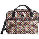 """Signare mallette sac ordinateur portable tapisserie 15.6"""" mode dames Triangle multicolore"""