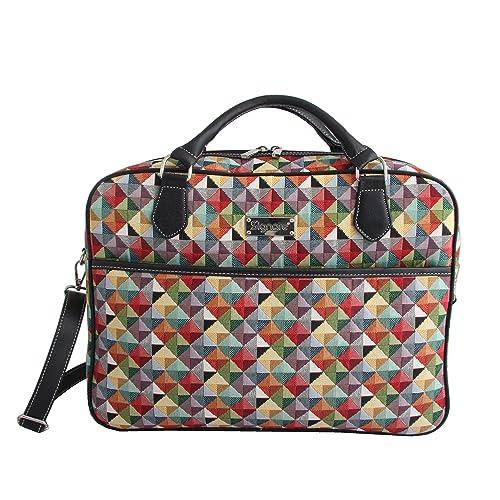 SIGNARE Maletín tapiz moda para mujer bolsa para portátil, 15,6