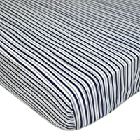 American Baby Company Printed 100% Cotton Jersey Knit Fitted Crib Sheet for Standard Crib and Toddler Mattresses for…