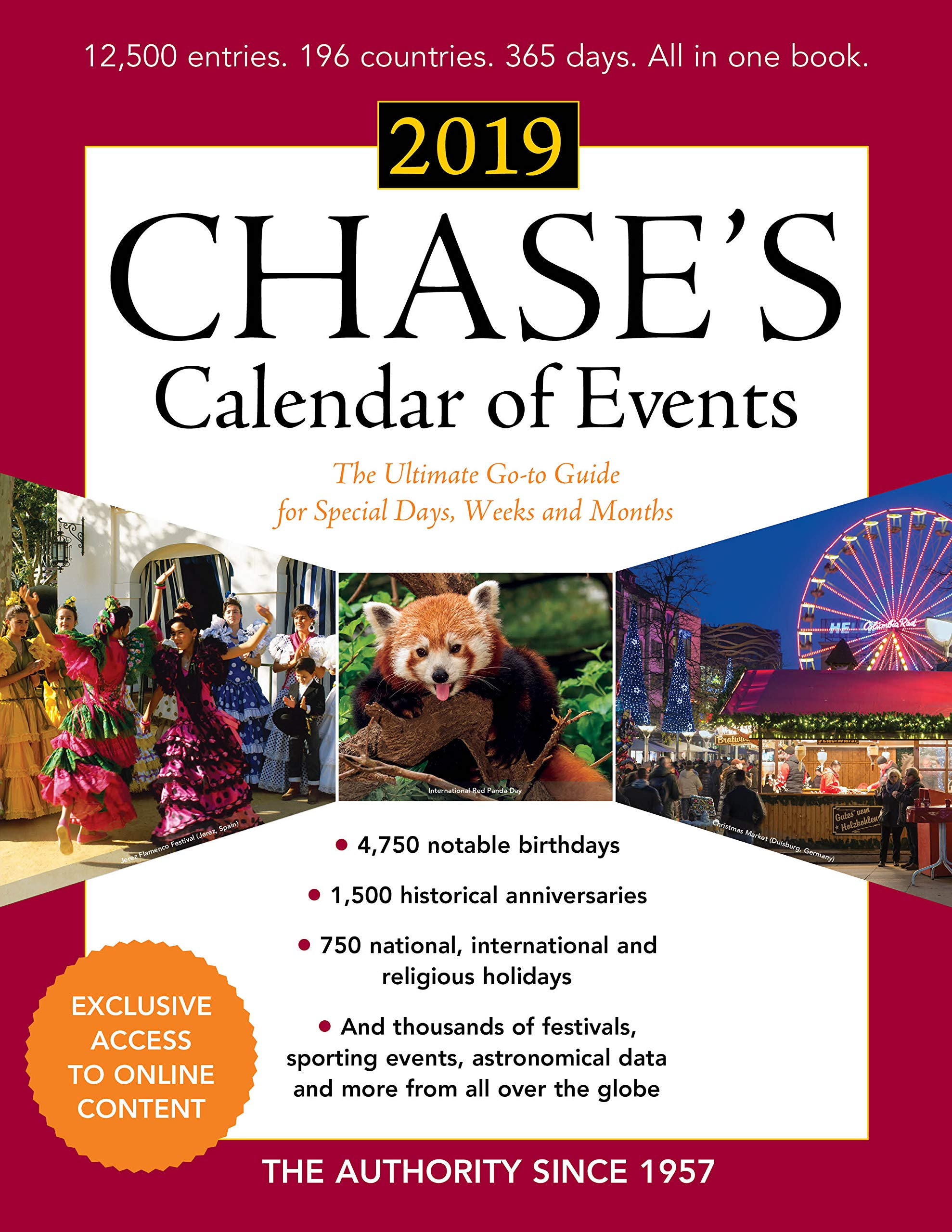 How Many Weeks To Christmas 2019.Buy Chase S Calendar Of Events 2019 The Ultimate Go To