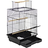 "Best Choice Products Pet Supplies 24"" Bird Cage W/ Open Play Top- Ideal For Parakeets, Small Birds"