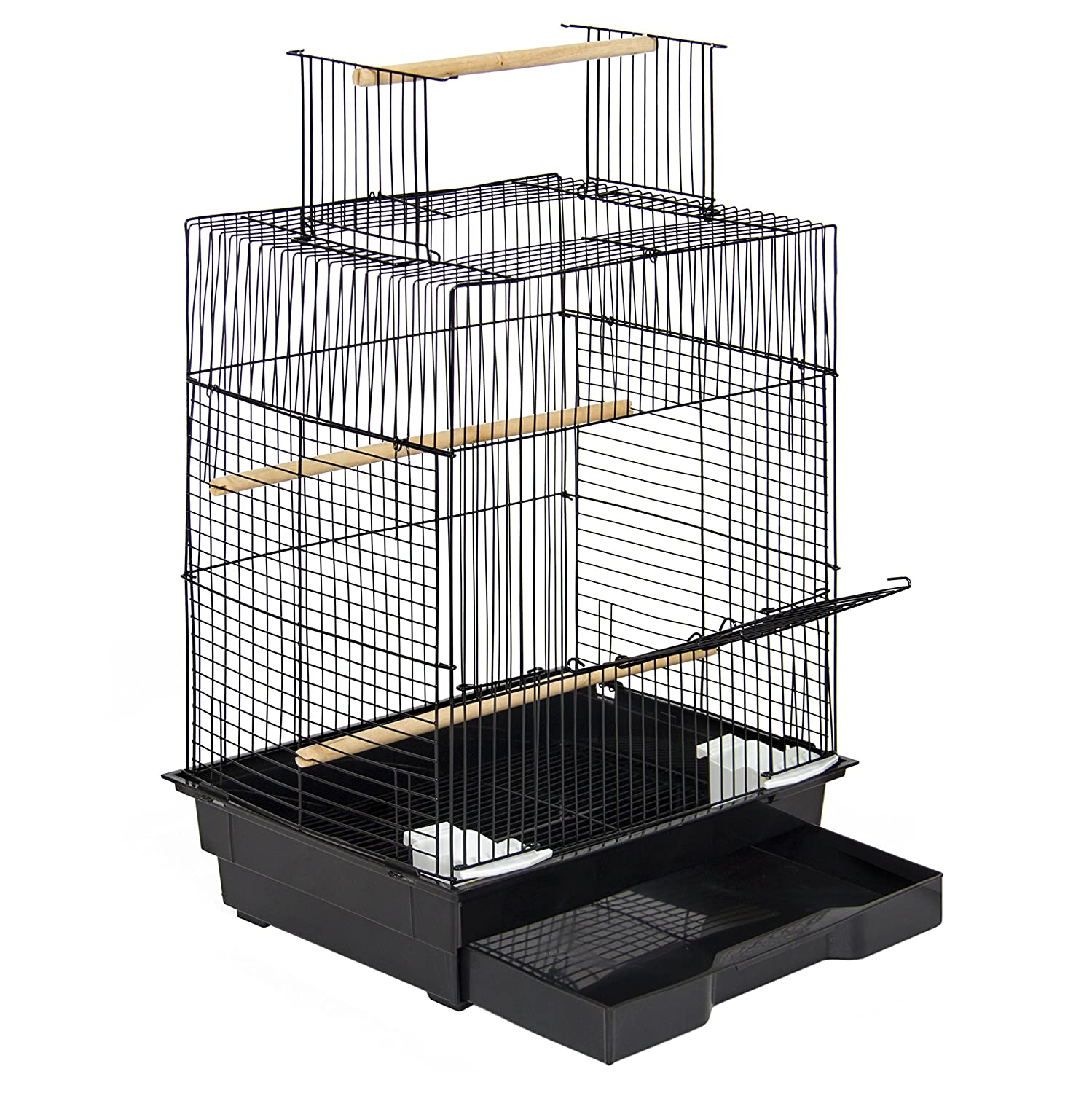 Best Choice Products Pet Supplies 24 Bird Cage W/ Open Play Top- Ideal For Parakeets, Small Birds SKY3083