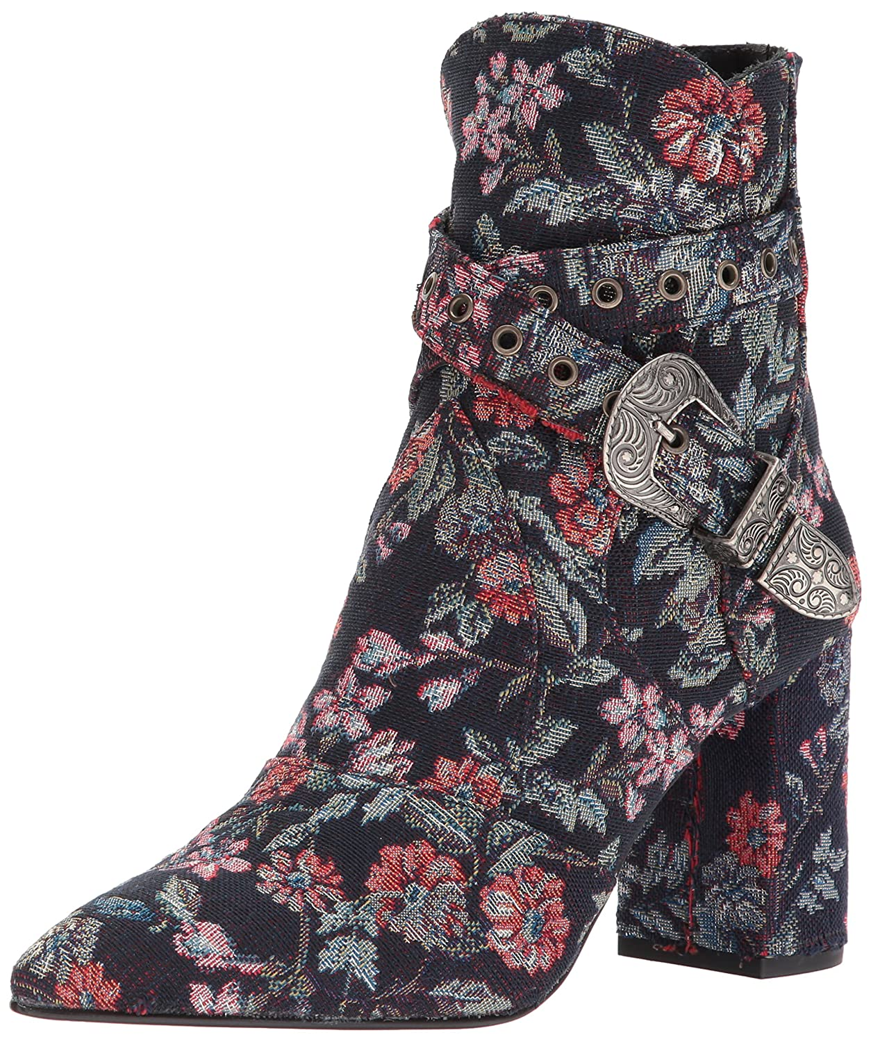 Badgley Mischka Women's Morrisey Ankle Boot B073C17T1D 8 B(M) US|Navy Floral