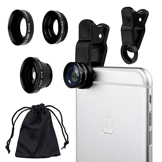 12444791498236 Amazon.com: Camkix Universal 3 in 1 Cell Phone Camera Lens Kit ...