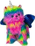 Rainbow Butterfly Unicorn Kitten Stuffed Toy Stuffed Animal Plush Toy Fun With Dark Blue Wings
