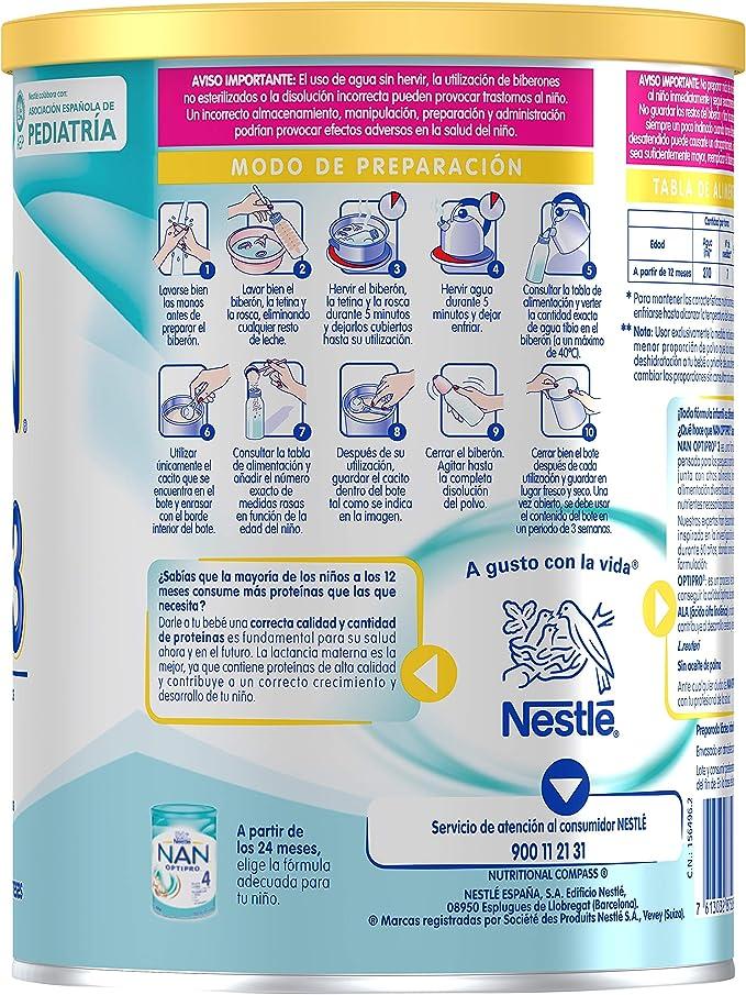 Nan Optipro 3 Preparado Lácteo Infantil, Fórmula de ...
