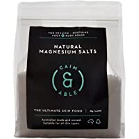 Caim & Able Magnesium Flakes Bulk 2kg - Pure Unscented Natural Chloride - Australian Made Bath Salts - Resealable Magnesium Supplement Bag for Transdermal Topical Skin Therapy Spa Foot & Body Soaks | Epsom Salts Alternative