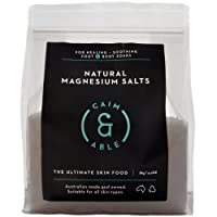 Caim & Able Magnesium Flakes Bulk 2kg - Pure Unscented Natural Magnesium Chloride Bath Salts - The Ultimate Skin Food for Healing, Soothing Foot & Body Soaks | Australian Made & Owned 100% natural, 100% vegan, cruelty-free, not tested on animals