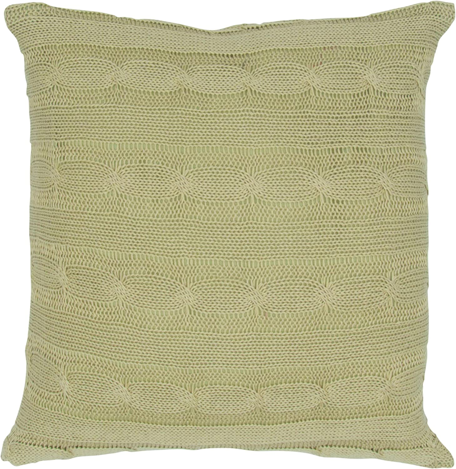 "Rizzy Home T04970 Decorative Pillow, 18""X18"", Sage"