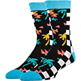 Oooh Yeah Men's Novelty Crew Socks, Funny Crazy Silly Casual Dress Cotton Socks
