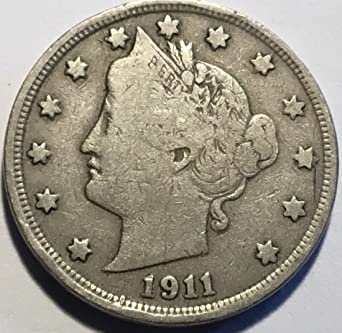 1911 Liberty V Nickel Fine at Amazon's Collectible Coins Store