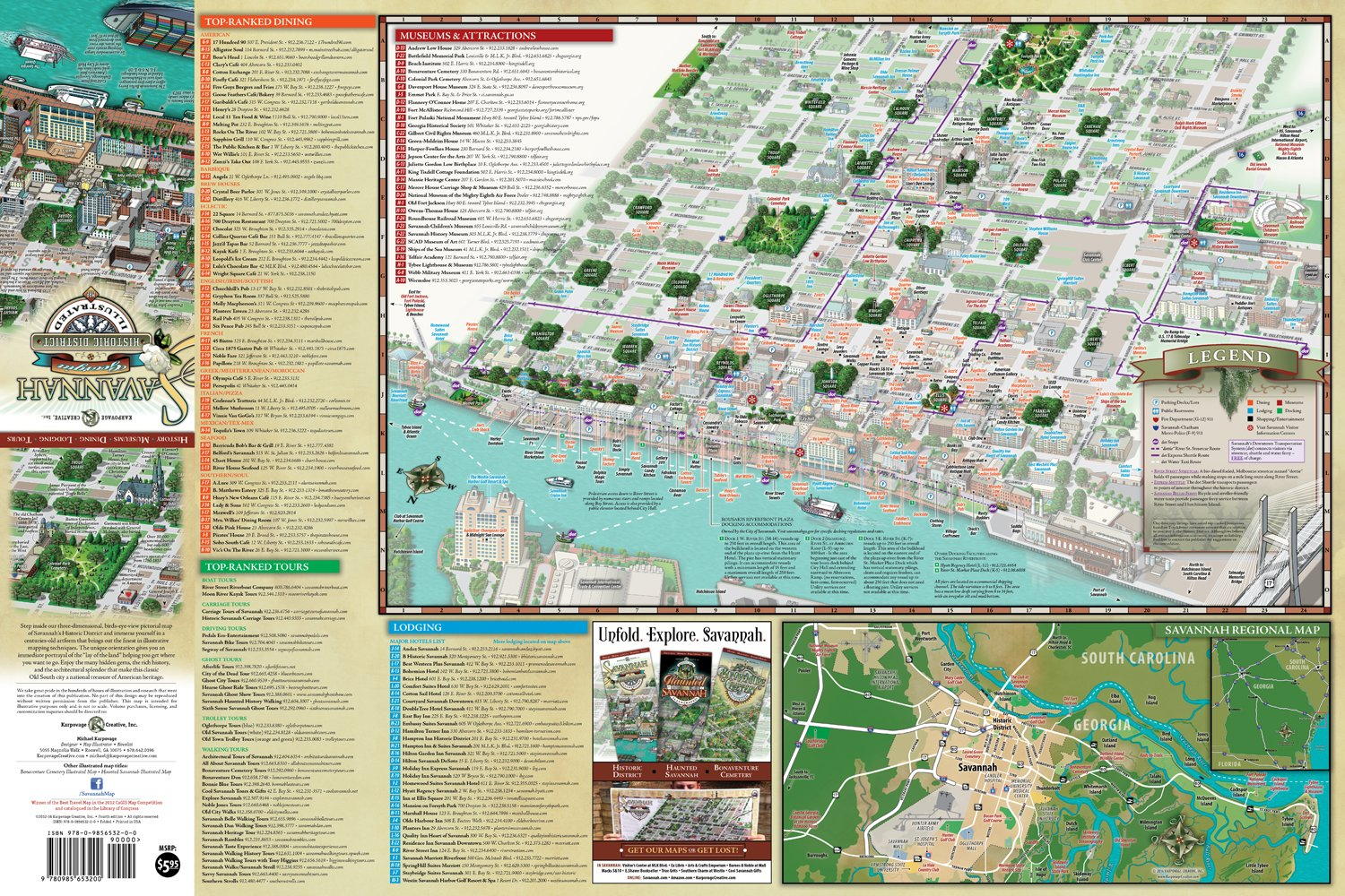 Savannah Historic District Illustrated Map Michael Karpovage