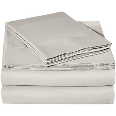 AmazonBasics Microfiber Sheet Set - Queen, Light Grey