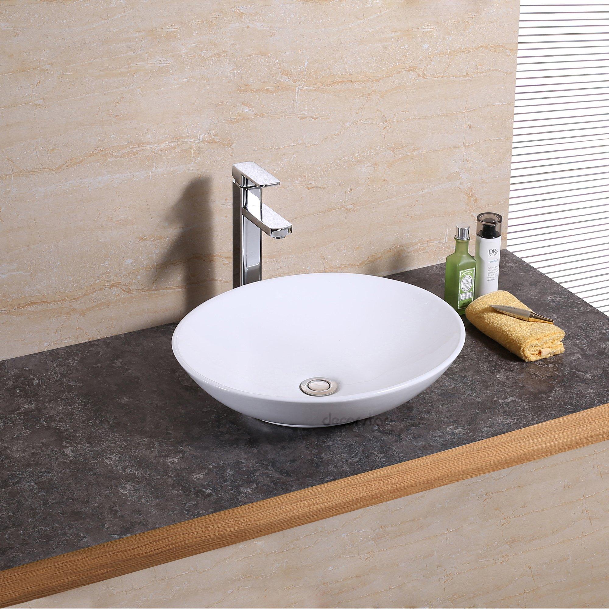 Decor Star CB-023 Bathroom Porcelain Ceramic Vessel Vanity Sink Art Basin