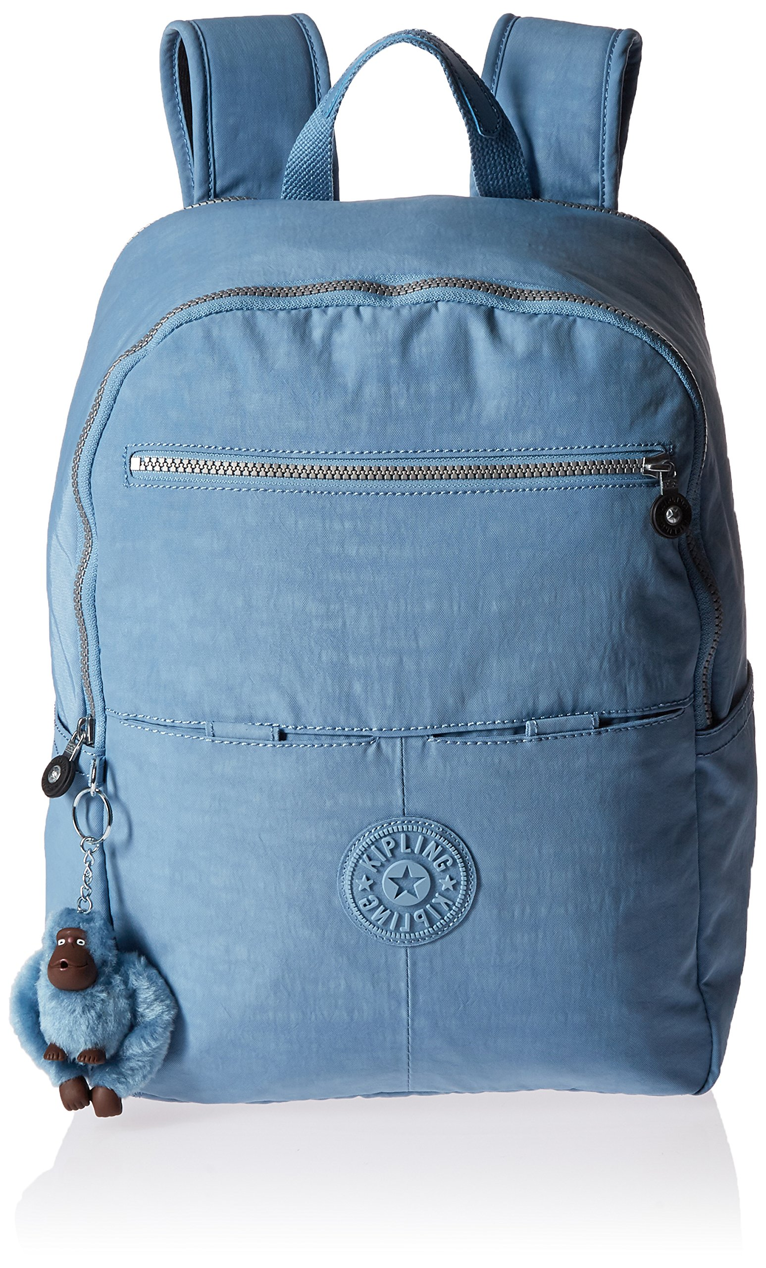Kipling Women's Aideen Solid Backpack, Blue/Grey