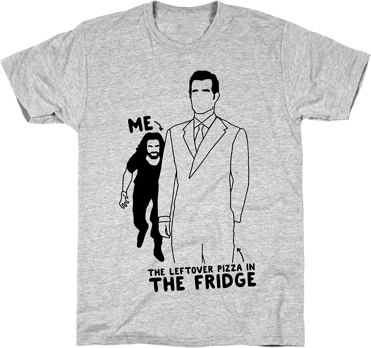 LookHUMAN Me Vs. The Leftover Pizza in The Fridge Athletic Gray Men's Cotton Tee