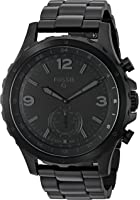 Fossil Hybrid Smartwatch - Q Nate Black Stainless Steel