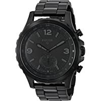 Fossil Q Men's Nate Stainless Steel Hybrid Smartwatch, Color: Black (Model: FTW1115)