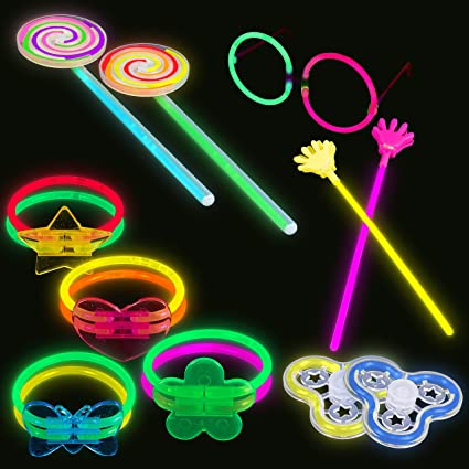 "300 8/"" Glow sticks bracelet assorted color free connectors ~ SHIPS FROM USA"