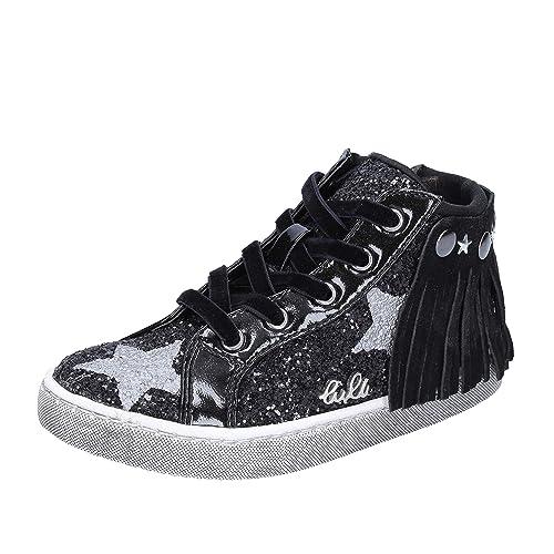 best sneakers db1c4 a1ab4 LULU' Sneaker Bambina Glitter Nero: Amazon.it: Scarpe e borse