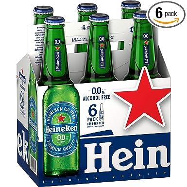 Amazon Com Heineken Zero Non Alcohol Premium Lager Beer Taste Beverage 33cl 11oz Pack Of 6 Grocery Gourmet Food