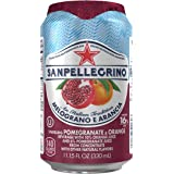 San Pellegrino Sparkling Fruit Beverages, Melograno e Arancia/Pomegranate & Orange, 11.15-ounce cans (Total of 24) by San Pellegrino