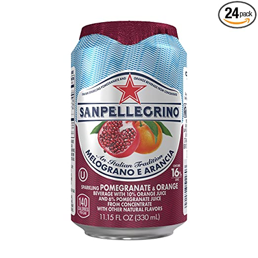 San Pellegrino Sparkling Fruit Beverages, Melograno e Arancia/Pomegranate & Orange, 11.15-ounce cans (Total of 24)