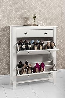 Shoe Storage Cabinet Deluxe with Storage Drawer Cotswold in White & Huf 2 Drawer Shoe Storage Cabinet in White u0026 Pine Low Noa u0026 Nani ...