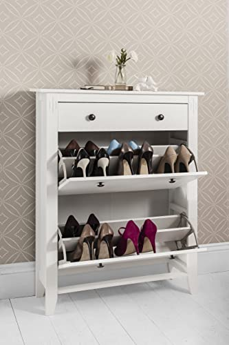 Merveilleux Shoe Storage Cabinet Deluxe With Storage Drawer Cotswold In White
