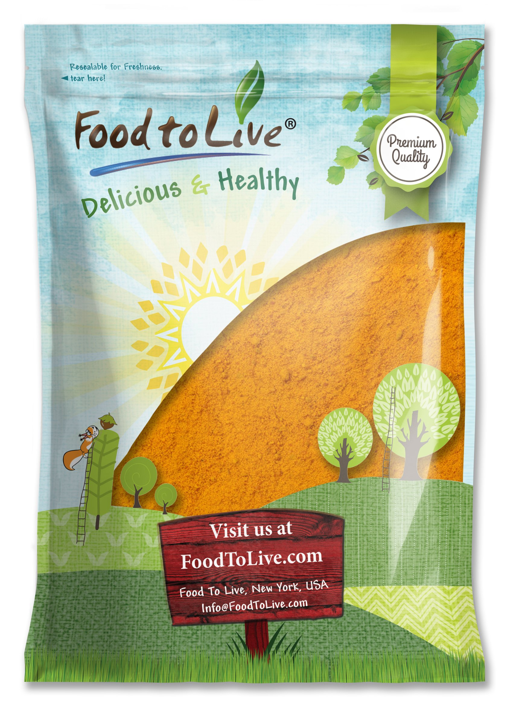Food to Live Turmeric Powder (Curcumin, Ground Turmeric Root, Kosher) (8 Pounds)