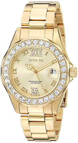 Invicta Women s 15252 Pro Diver Gold Dial Gold-Plated Stainless Steel Watch