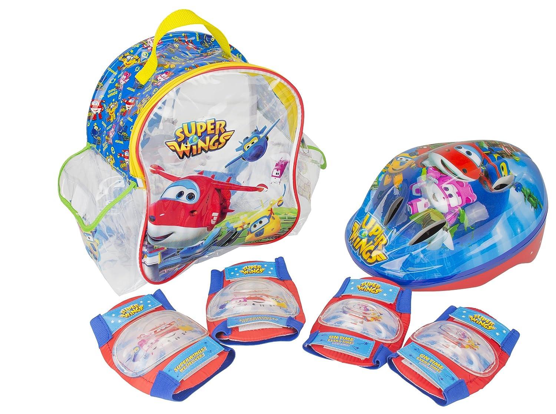Super Wings Set con Mochila, Casco y Protecciones Amijoc Toys 650