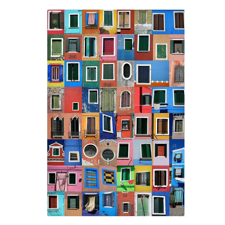 Bilderwelten Leinwandbild - Fenster der Welt - Hoch 3 2, Leinwand Leinwandbild XXL Leinwanddruck Wandbild, Größe HxB  120cm x 80cm