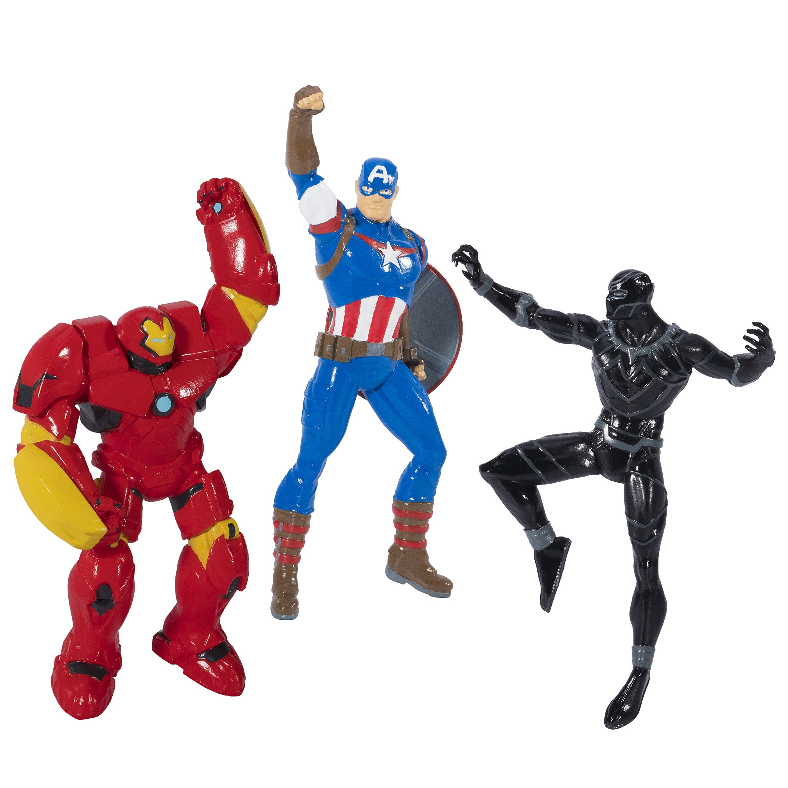 SwimWays Marvel Avengers Dive Characters - Captain America, Black Panther, and Hulk Buster