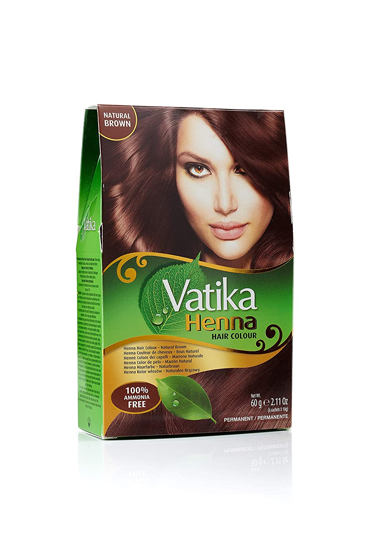 Amazon Com Vatika Henna Hair Colour Natural Brown 60gms Beauty