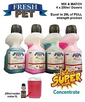 4 x 250 ml de limpiador de caseta para desinfectante – mezclar y combinar
