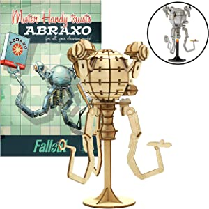 Fallout Mr. Handy Poster and 3D Wood Model Figure Kit - Build, Paint and Collect Your Own Wooden Model - Great for Teens and Adults,17+ - 6.5""