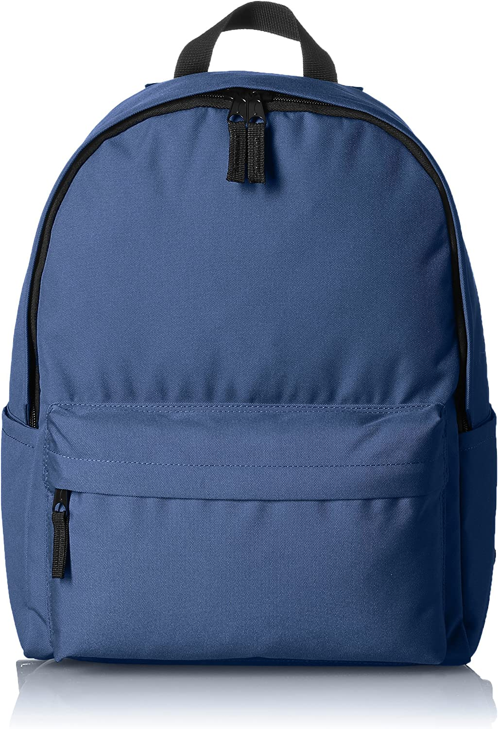 AmazonBasics Classic School Backpack, Navy - 5-Pack