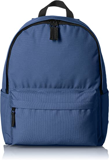 Ser amado No quiero conspiración  Amazon.com: AmazonBasics Classic School Backpack - Navy: Computers &  Accessories