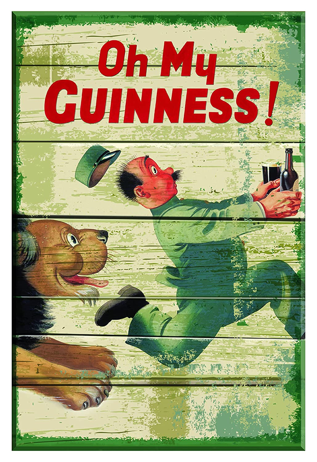 Amazon.com: Nostalgic Guinness Wooden Sign with Zoo keeper & Lion ...