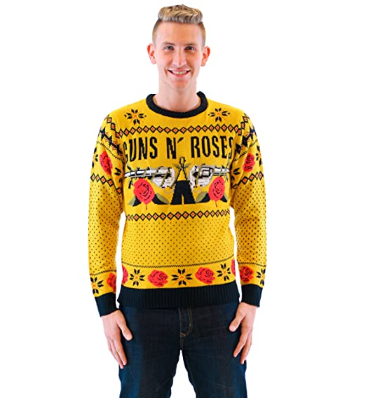 Amazoncom Guns N Roses Text And Logo Mustard Ugly Christmas
