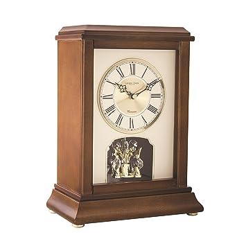 Bois Fonce Horloge De Cheminee Avec Carillon Westminster Et Pendule