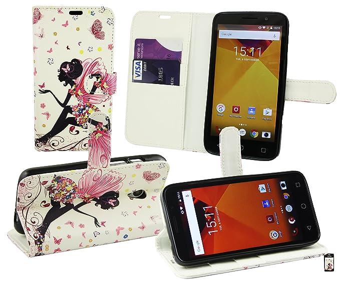 Emartbuy® Vodafone Smart Turbo 7 PU Cuero Funda Wallet Soporte Carcasa Case Cover PU Cuero