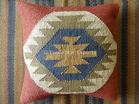 Handmade Sham Cover Ethnic Pillow Multicolor Kilim Pillow Cover Colorful Pillow Cover 20x20 Kilim Pillow Designer Pillow Boho Pillow